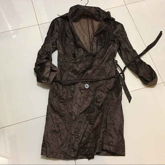 Poshmark Jacketsamp; Puli CoatsEspresso Wrinkled Trench Coat Artsy jR4c3qL5A